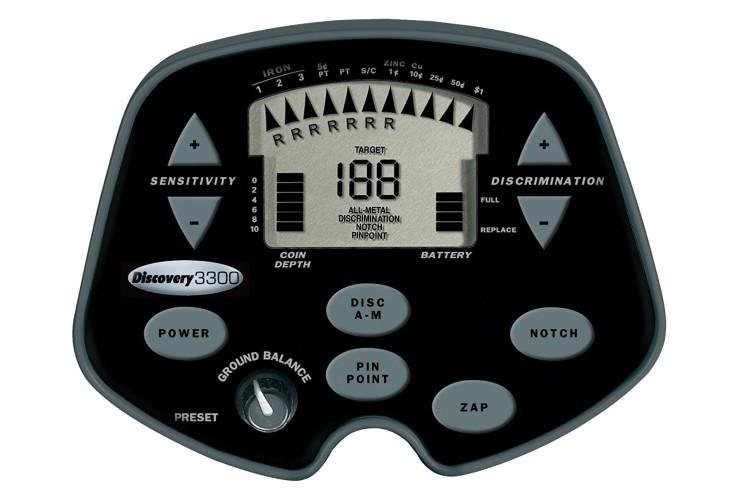Metalldetektor Bounty Hunter Discovery 3300 mit gratis Kopfhörer